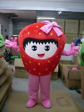 Advertising Fruit strawberry Mascot Costume suits Adults Size Fancy Dress New