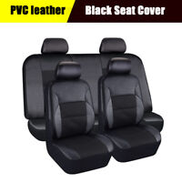 Car Seat Cover 5-Seat SUV Front & Rear PVC Leather Automobile Cushion Breathable