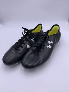 Under Armour Mens Speedform Leather SG Soccer Cleats Black size 13