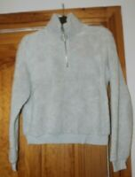 half zip pale blue/white jumper topshop uk 12