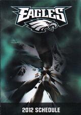 2012 PHILADELPHIA EAGLES FOOTBALL POCKET SCHEDULE