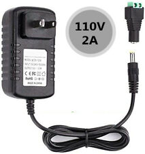 12V 2A 24W Power Supply AC to DC 110-240V Adapter Plug for 3528 5050 LED Strip