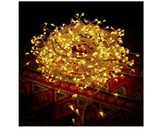 600-Light Mini LED Outdoor Cluster Fairy String Light, AC Powered Christmas LEDs