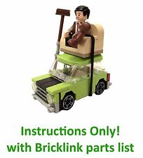 DIGITAL INSTRUCTIONS for custom Lego MR BEAN MINI CAR (City)