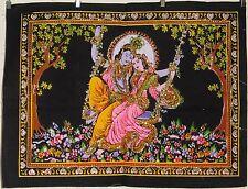 Indian Radha Krishna Swing Sequined Wall Hanging * Fair Trade * 55 x 43 cm