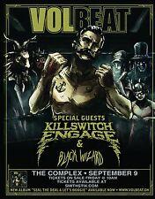 VOLBEAT/KILLSWITCH ENGAGE/BLACK WIZARD 2016 SALT LAKE CONCERT TOUR POSTER -Metal