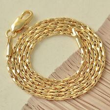 500*2mm 9K Gold Filled Twisted Womens Unisex Bracelet F5016