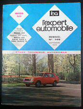 L'EXPERT AUTOMOBILE n°146; Mazda 323/ BMW série 3/ Ford Taunus 76