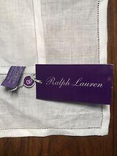RALPH LAUREN PURPLE LABEL Linen Pocket Square White