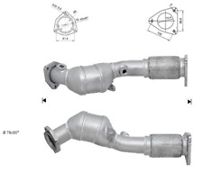 Catalytic Converter VW Touareg 4.2i 234bhp  Front Right 10/2002>11/2006  Euro 4