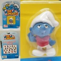 Smurfs Sleepy Smurf Vintage Schleich Applause Irwin Peyo Figure PVC Toy Figurine