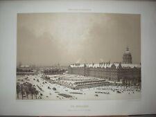 INVALIDES du côté esplanade PARIS litho Charpentier dessin Benoist 1850
