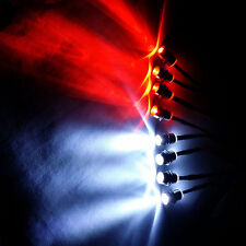 8LED Light Night 5mm 4P White & 4P Red Headlights Futaba Fit RC 1/10 Model Car