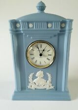Wedgwood Blue Jasperware HM Queen Mother Clock 100 Years - Working