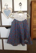 Denim Floral Dresses (0-24 Months) for Girls