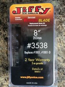 """Jiffy Serrated Ripper Ice Auger Blade-8""""- #3538 - Replaces- #1801 - #1801-D-NEW"""