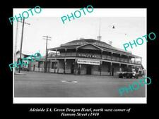 Old Postcard Size Photo Of Adelaide Sa Green Dragon Hotel South Tce 1940