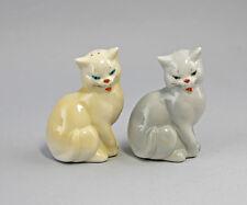 Porzellan Salz- und Pfeffer Streuer Katzen Ens H9cm 41296