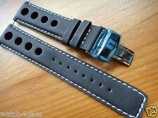 Genuine Tissot T-TOUCH PRS516 Black Leather Band strap bracelet & s/steel buckle