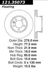 121.35073 - Centric Disc Brake Rotor,  Free Shipping!