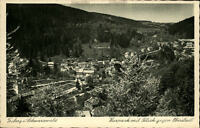 Triberg Schwarzwald Postkarte ~1920/30 Kurpark mit Blick gegen Oberstadt