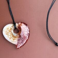 Murano glass heart pendant necklace. bronze. Irish jewellery Valentine's Day