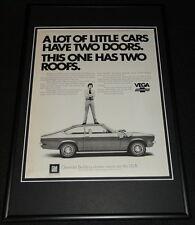1972 Chevrolet Vega Framed 12x18 ORIGINAL Advertisement