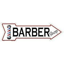 "Barber Novelty Metal Arrow Sign 5"" x 17"""