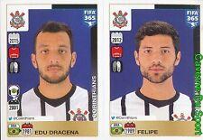 164-165 EDU DRACENA FELIPE BRAZIL CORINTHIANS FIFA 365 PANINI