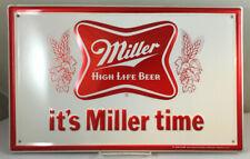 Vintage 1981 Miller High Life Beer Embossed Metal Advertising Sign
