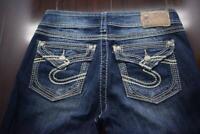 Silver Suki Surplus Bootcut Pocket Flaps Stretch Denim Jeans Womens Size 27 x 32