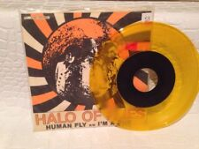 """HALO OF FLIES - HUMAN FLY 7"""" Punk Rock YELLOW Vinyl Record 1991 POWERFIRST CO."""
