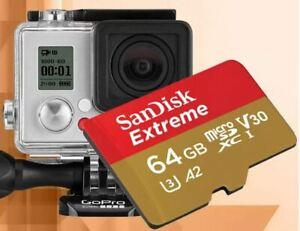 Sandisk 32/64/128/256gb Micro SD Memory Card for Go Pro Hero 7,Hero 8,Hero 9,max