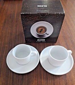 ALESSI SET 2 TAZZE CAFFE CON PIATTINO AJM28/76 S DESIGN: JASPER MORRISON