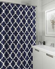 Ruthy's Textile Geometric Patterned Shower Curtain 70-inch by 72-inch - Navy