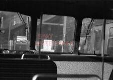 PHOTO  VIEW FROM REAR CAB OF MILNGAVIE BOUND EMU AT SPRINGBURN STATION. 25/11/62