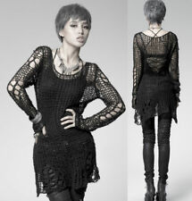 Punk rave black women sweater fashion Style visual kei sexy party casual top