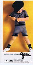 PUBLICITE ADVERTISING 104 1969 CREATEX JEUNESSE vêtement pour enfants