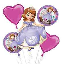 Disney Sofia The First Balloon Bouquet ~ Birthday Party Decoration Supplies ~5pc
