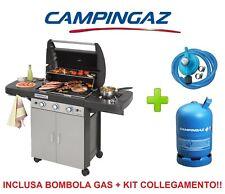 BARBECUE GAS CAMPINGAZ 3 SERIES CLASSIC LS GRIGIO + BOMBOLA + KIT COLLEGAMENTO