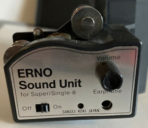 Rare ERNO Sound Unit Attachment for 8mm Super 8 Cine Film Editor Viewer WORKING