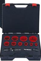 Lochsäge Set Satz HSS Bi-Metall Dosenbohrer Bohrkronen Koffer 22-68 mm 9-teilig