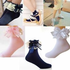 Baby Girls Sweet Lace Ruffle Frilly Ankle Sock Princess Cotton Short Sock Lovely