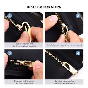 8PCS Puller Detachable Universal Alloy Sewing Zipper Bag Clothes Zip Fixer
