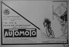 PUBLICITÉ 1924 AUTO MOTO BOTTECCHIA GAGNANT DU TOUR DE FRANCE 1924 - ADVERTISING