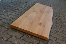 Waschbecken Tischplatte Platte Eiche Massiv Holz mit Baumkante Leimholz Lackiert
