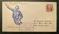 1943 National Defense Winfred Grandy Registered WWII Illustrated Patriotic Cover