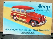 Jeep Station Wagon Willys-Overland Sign by AAA Sign Co Coitsville New