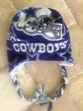 Dallas Cowboys NFL Fleece Ear Flap & Braids Hat Sizes Baby, Children, Adult Men
