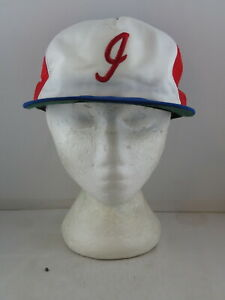 Indianapolis Indians Hat (VTG) - Tri Colour Trucker Hat by New Era - Snapback